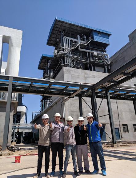 热烈祝贺福彩3d开机号·滨州中洁能供汽项目1号锅炉点火一次成功