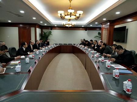 甘肃省冶金有色工业协会会长陈士发拜会上海期货交易所总经理席志勇