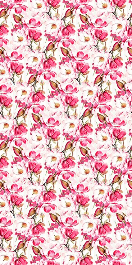 手绘艳丽粉色花语