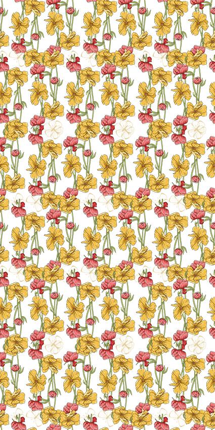 黄色盛开茂密花琼