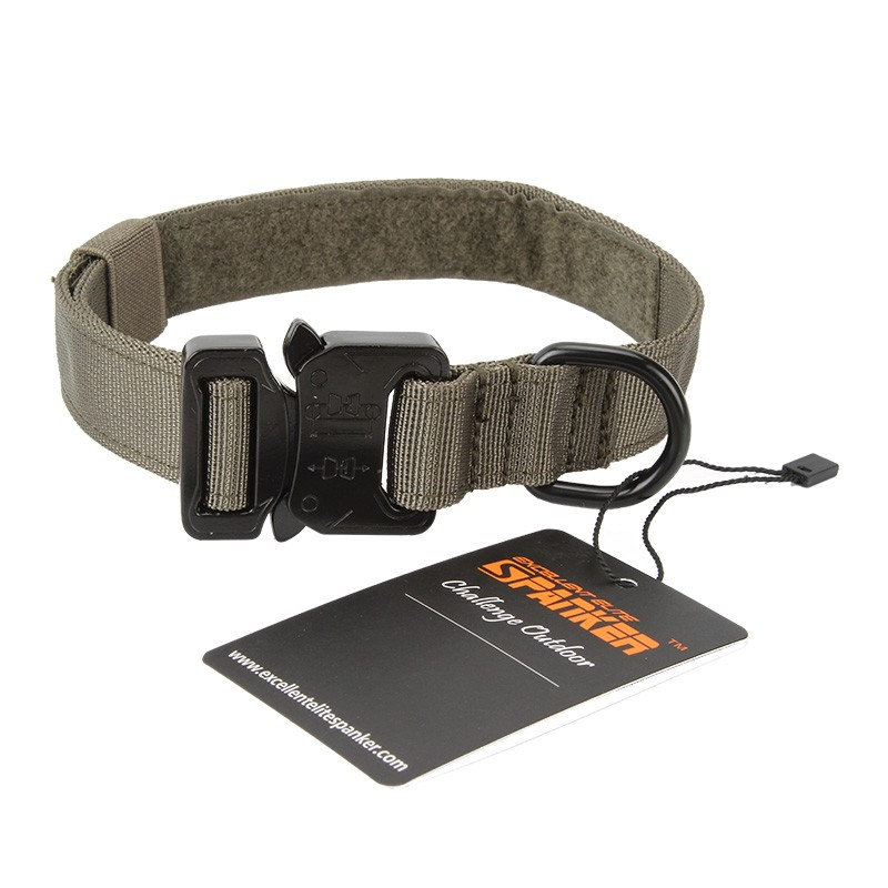 Tactical Dog 1″ Metal Buckle Collar