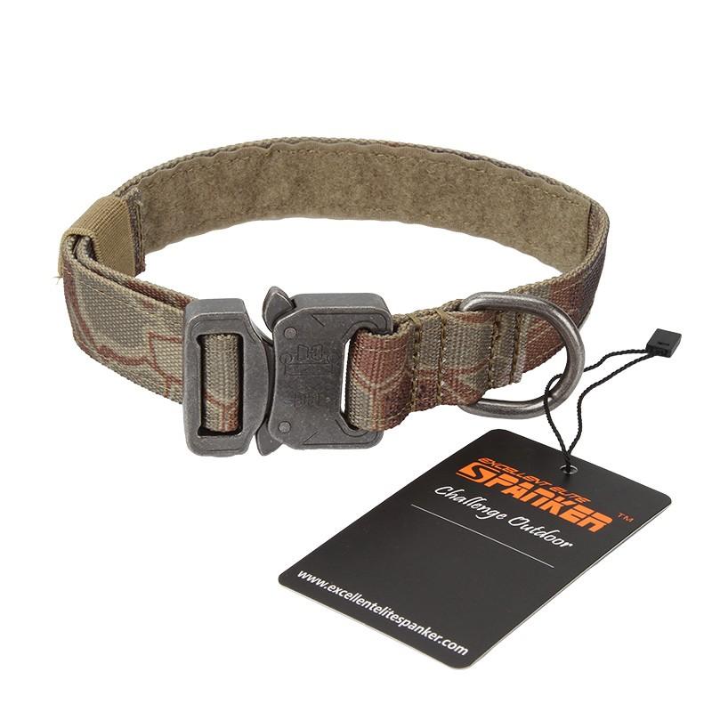 Tactical Dog 1″ Metal Buckle Collar