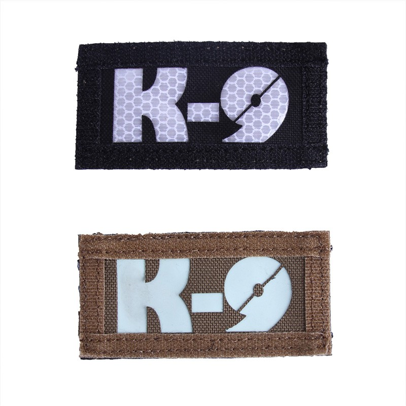 Tactical Badge K-9 Letter Military Hunting Reflective light Badge Outdoor Sports Patch Double indentify