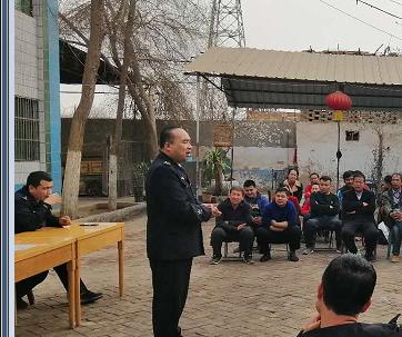 政安消防为二堡派出所辖区居民送来春季消防安全知识