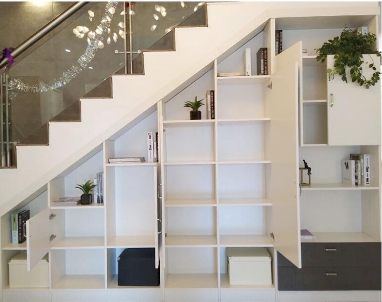 多功能楼梯柜碰撞色