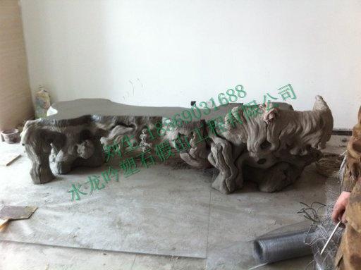 上海迪斯尼塑石假山施工现场