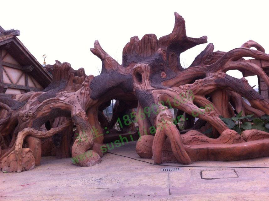 成都水上乐园园林塑石假山景观工程2011底完工