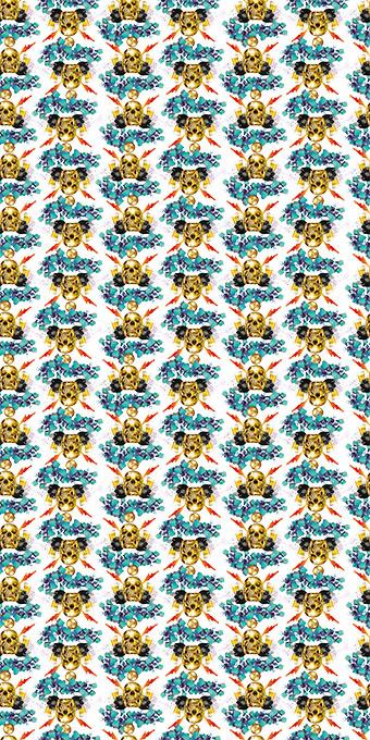 立体几何方形叼烟金骷髅
