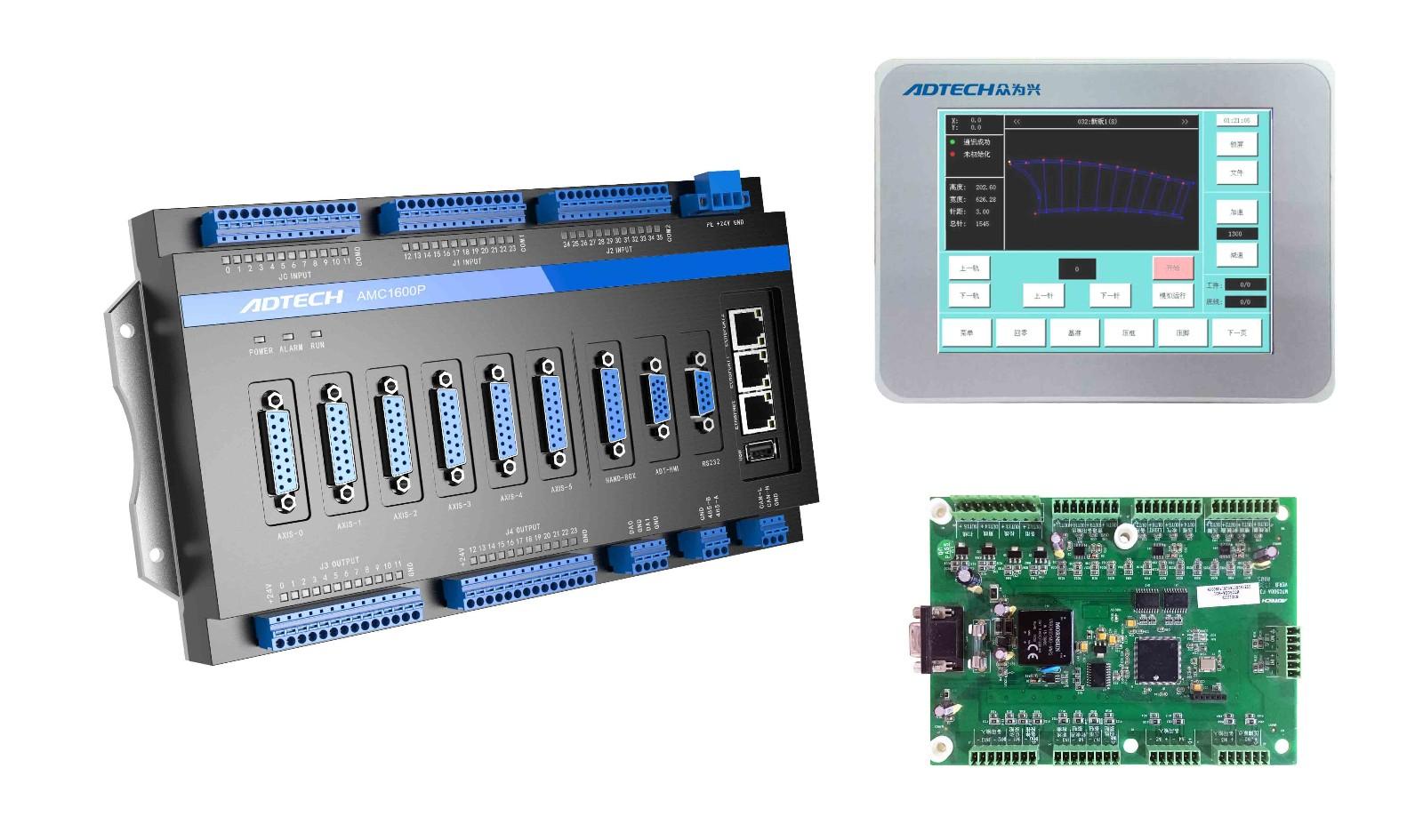 AMC1600P系列旋转机头模板机控制系统