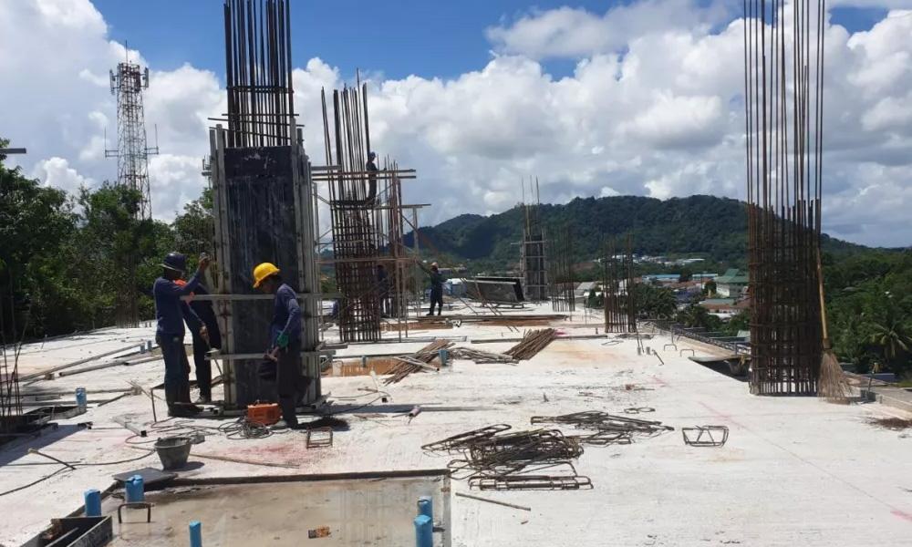 「登岛实时」UTC项目现场跟踪报道,整体建设进度稳步推进,B栋最高部分已达5层!