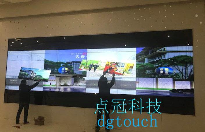 广州点冠电子定制超大红外触摸屏框主力四川成都天府新区