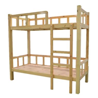 七彩-儿童实木双层高低床