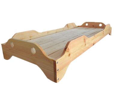 七彩-儿童实木单人叠床