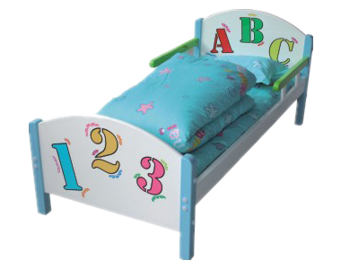 七彩-儿童欧式造型单人午睡床