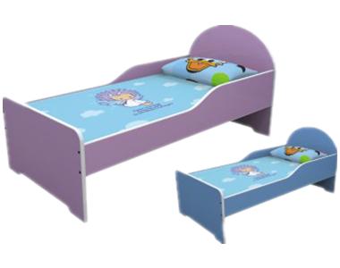 七彩-儿童防火板单人午睡床