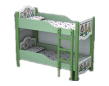 七彩-儿童欧式造型高低午睡床
