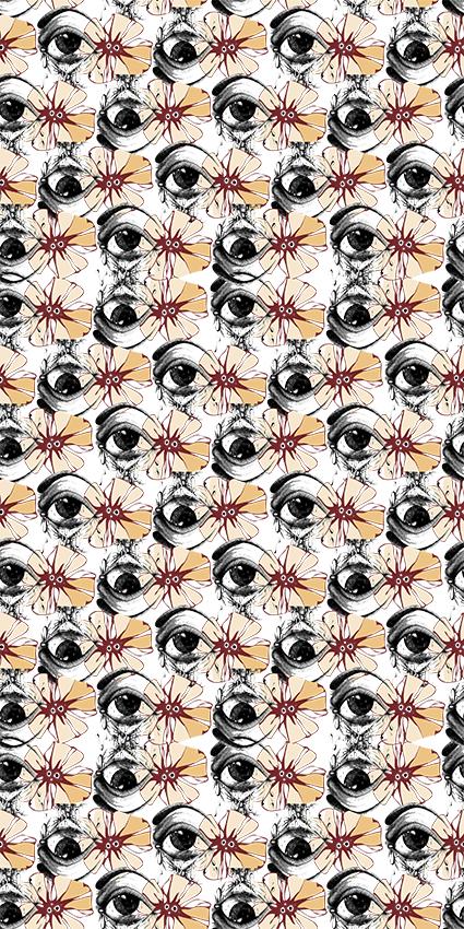 黑白瞳孔眼镜图绘