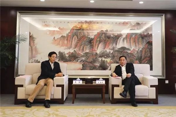 CCYIA's Co-Chairman Wu Qiang Visited CCCC's President Song Hailiang-CCYIA