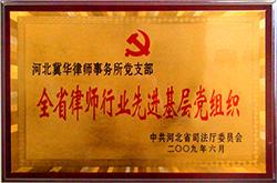 河北省伟德国际1946官方下载行业先进基层党组织