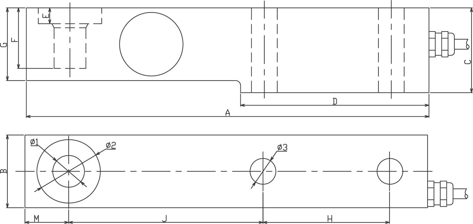 SB悬臂梁称重传感器 (型号:SB悬臂梁称重传感器)