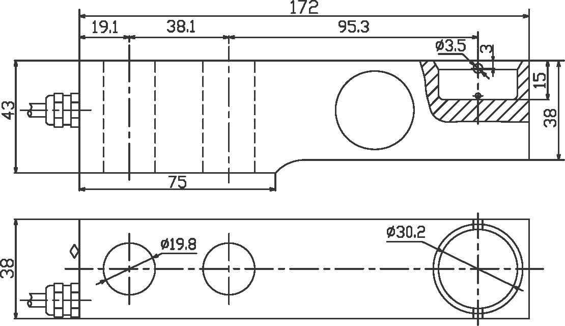 SBC悬臂梁称重传感器 (型号:SBC悬臂梁称重传感器)