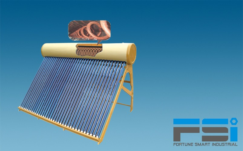 Copper Coiling Finned Tubes Solar Water Heater3