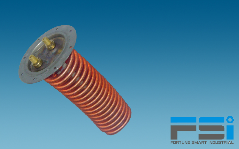 Copper Coiling Finned Tubes Heat Exchanger for Solar Water Heater