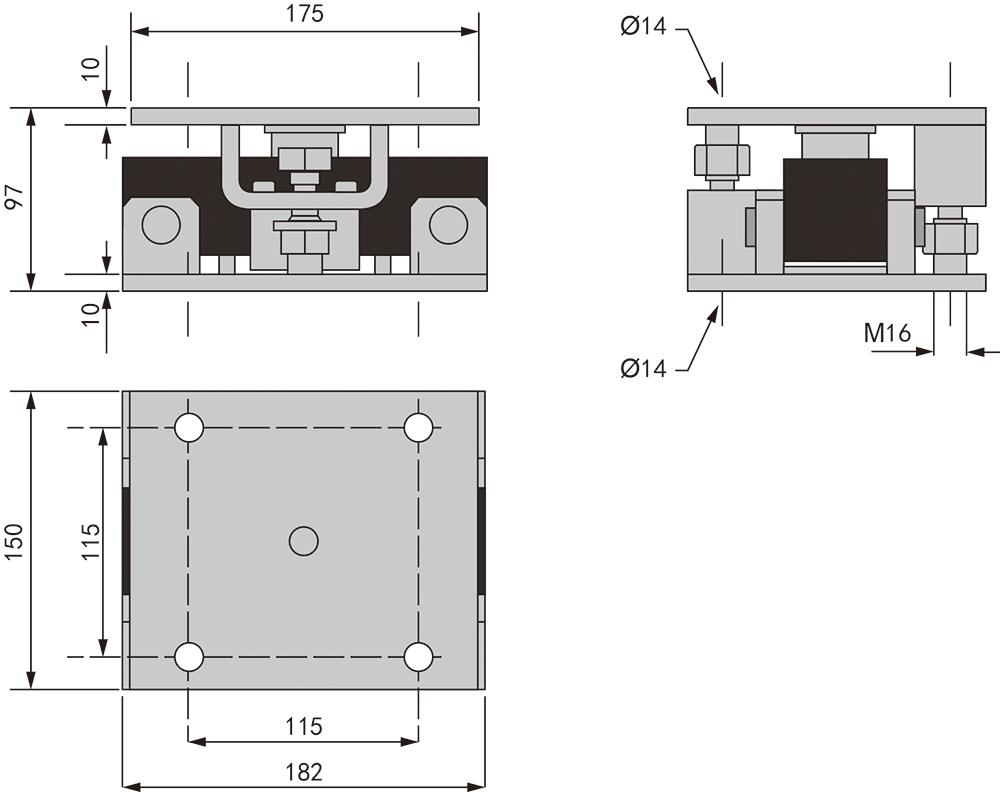 WM603 双剪切梁传感器安装模块 (型号:WM603)