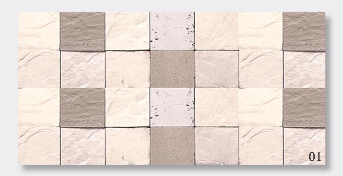 白色方石混搭