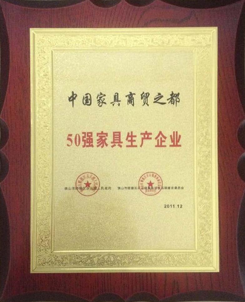 中国家具商贸之都50强家具生产企业
