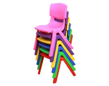 七彩-儿童靠背椅子