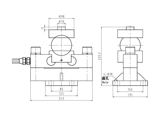 QS1双剪切梁式称重传感器 (型号:QS1)