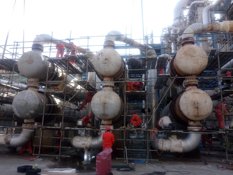 中石油钦州炼化项目租赁拜尔液压扳手项目顺利完成施工