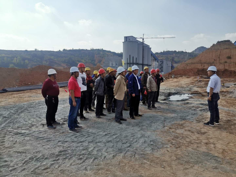 70华诞 我与祖国共筑平安 ---北京华宇工程有限公司领导莅临华奥项目部指导慰问