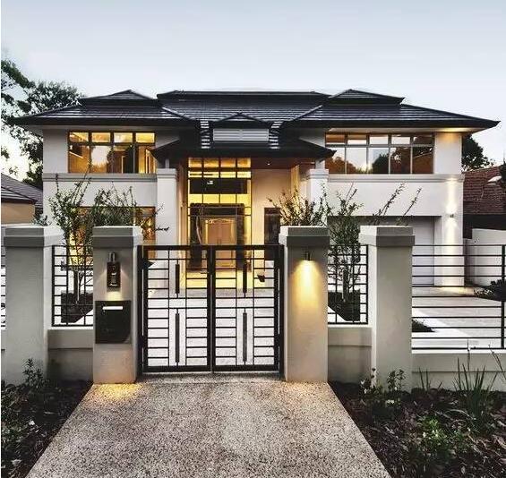 超漂亮别墅庭院入口设计