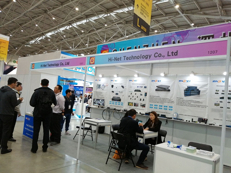 Hi-Net Show New POE Devices During Secutech Taipei 2019 Show