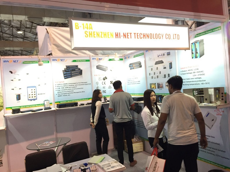 Hi-Net Show POE devices at Secutech India Show 2019
