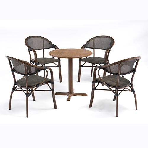 Aluminum sling chair and table set / Алюминиевый стул слинга и набор стола