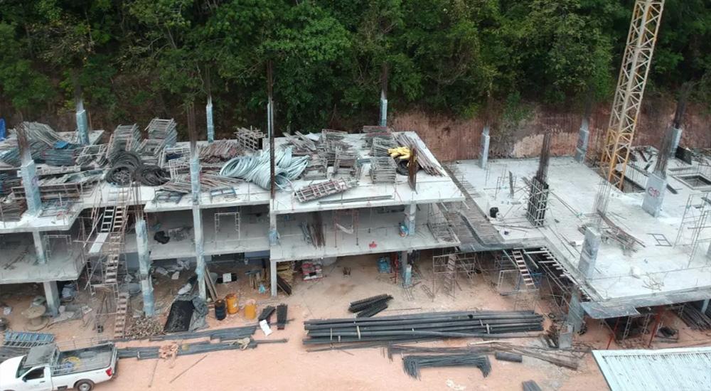 「登岛实录」UTC项目现场跟踪报道,整体建设进度稳步进行,主体部分已至3层!