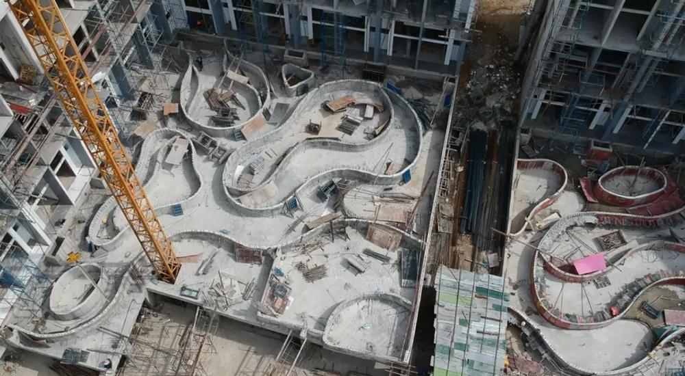 「登岛实录」UTL项目现场跟踪报道,主体泳池部分完整呈现!