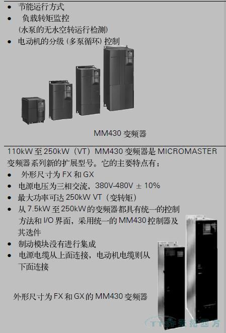 MICROMASTER 430 变频器
