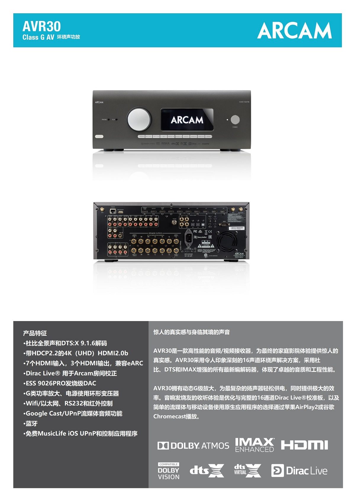 AVR30环绕声功放