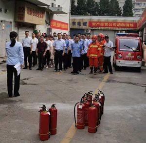 生产必须安全 安全促进生产——资产经营公司组织开展消防演练活动