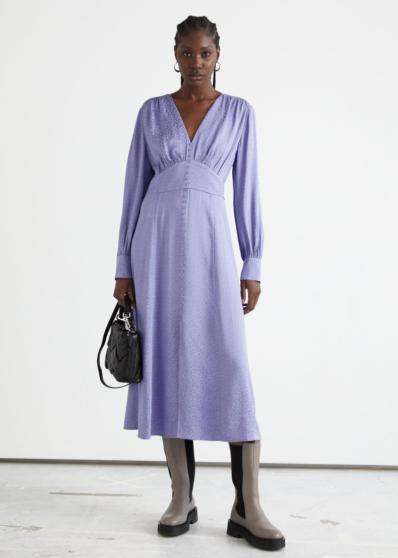 Deep V-Neck Floral Casual Women Dress Long Sleeve Loose Plus Size Hightwaist New Summer African Pregnant