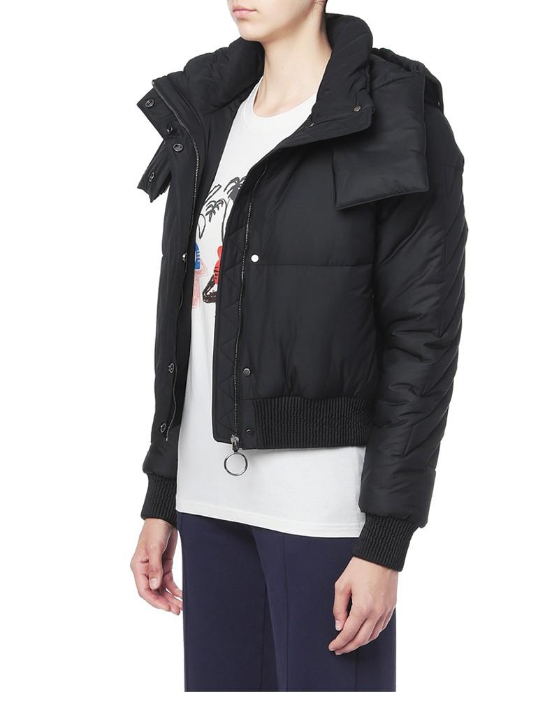 Logo Zipper Women Windproof Coat Jacket Spring Autumn Winter Long Sleeve Sport Pocket Hooded Collar