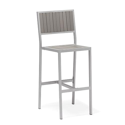 Aluminum plastic wood bar chair / Алюминиевый пластиковый деревянный стул бар