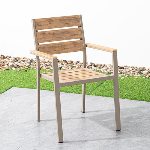 Aluminum plastic wood chair / Алюминиевый пластиковый деревянный стул