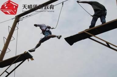 户外高空拓展训练项目:空中断桥