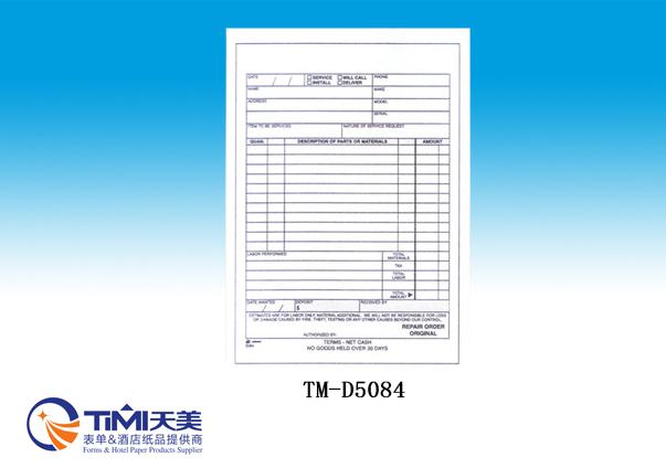D5084-Repair Order Book