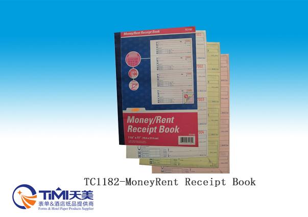 TC1182-Money/Rent Receipt Book